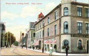 Water Street Galt ON Ontario Unused Postcard F64