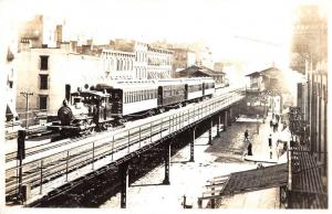 Southbridge Massachusetts Elevated Railroad Real Photo Antique Postcard K99789