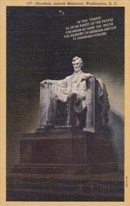 Abraham Lincoln Memorial Washington DC 1945
