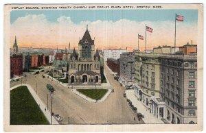 Boston, Mass, Copley Square, Showing Trinity Church & Copley Plaza Hotel