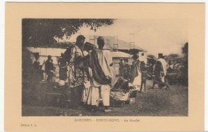 Benin; Dahomey, Porto Novo, At The Market PPC, By ER, Unused, c 1920's