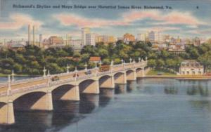 Virginia Richmond Mayo Bridge Over James River