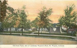 Fort Wayne Indiana~Old Fort Park~Anthony Wayne's Fort~Cannon~1910 PC