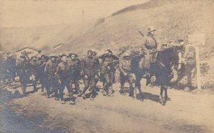 Egypt German Soldiers Marching Real Photo sk2086a
