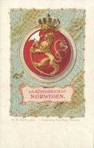 norway norge, Königreich Norwegen, Coat of Arms (1899)