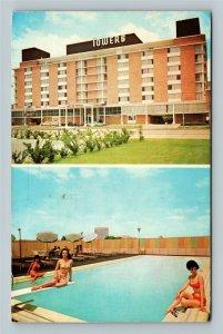 Houston TX, Towers Motor Hotel & Swimming Pool, Chrome Texas c1968 Postcard