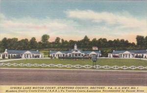 Virginia Stafford County Spring Lake Motor Court