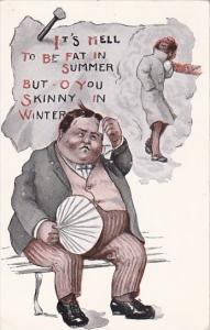 Humour It's Hell To Be Fat In Summer 1914