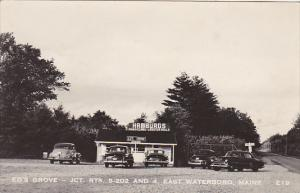 Maine East Waterboro Ed's Grove Restaurant Real Photo