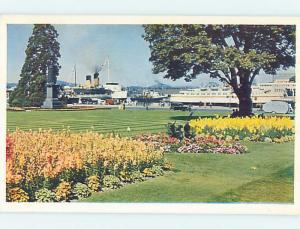Pre-1980 SHIP BOATS IN THE HARBOR Victoria - Vancouver Island BC F4250