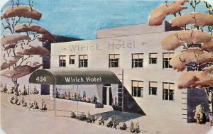 Griffith Advertising 1951 Wirick Hotel St Petersburg Florida roadside 9960