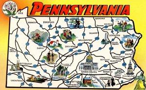 PA - Pennsylvania Map