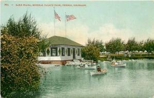 CO, Pueblo, Colorado, Mineral Palace Park, Lake Clara, Edward H. Mitchell 991