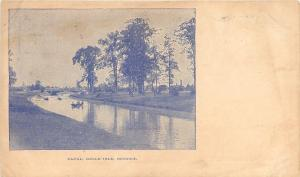 Detroit Michigan~Belle Isle Canal~1905 B&W Postcard