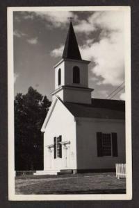 ME Free Baptist Church ISLESBORO MAINE RPPC Real Photo