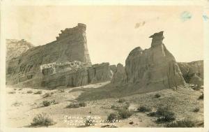 California Mojave Desert 1951 Kern RPPC Photo Postcard Camel Rock Frasher 3444