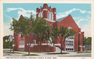 Nebraska McCook First Methodist Memorial Church Curteich