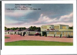 ROCKY MOUNT, North Carolina, 1930-1940's; Hal Orr's Hotel Cottages, U.S. Hgwy...