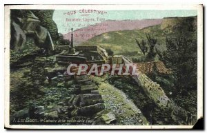 Old Postcard Les Baux Calvary and the valley of the Foul