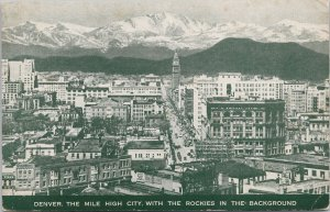 Denver CO Colorado Mountain States Telephone & Telegraph Co Unused Postcard G73