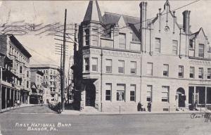 First National Bank, BANGOR , Pennsylvania, 1908