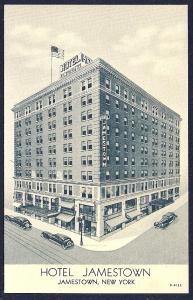 Hotel Jamestown Jamestown New York unused c1930's