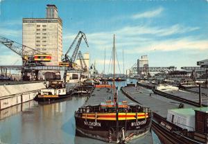Stuttgart Neckarhafen Harbour Boats Bateaux Postcard