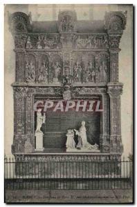 Old Postcard Nancy Rene II Tomb by Mansuy Gauvain