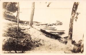 Alexandria Minnesota~Maryland Boat Landing~Lake Mary Dock~1930s Real Photo~RPPC
