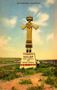 New Mexico Gallup Giant Indian Katchina Doll Along Highway