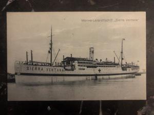 Mint Germany RPPC Postcard SS Sierra Ventana Hospital Ship