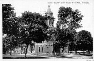 Carrollton Kentucky Court House Street View Antique Postcard K104784