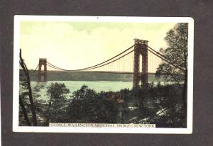 NYC George Washington Memorial Bridge New York City Postcard NY