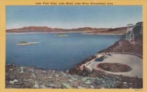 Nevada Lake Mead Lake View Point 1950 Curteich