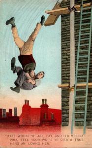 Bamforth No 4095 Men Falling Off Ladder