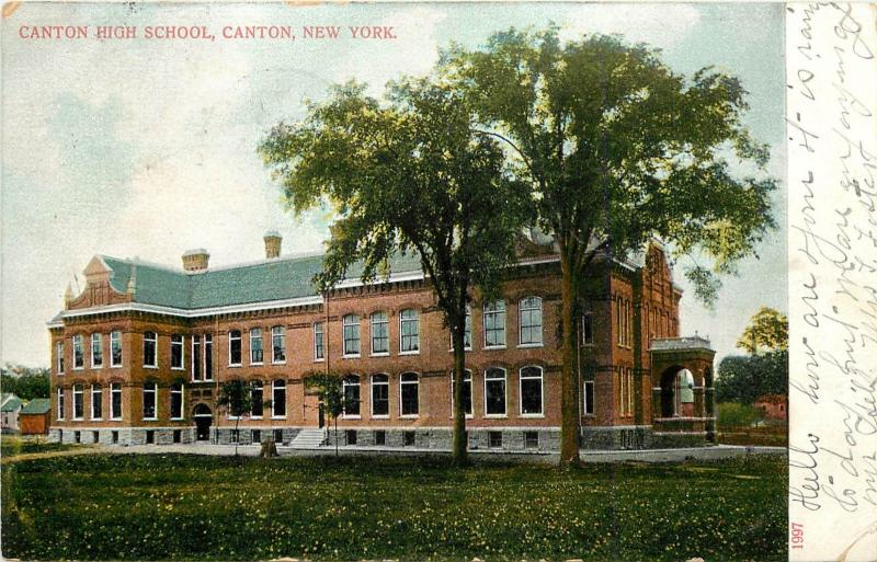 c1906 Postcard; Canton High School, Canton NY St. Lawrence County posted
