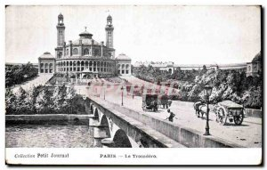 Old Postcard Paris Trocadero