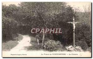 Old Postcard The Prioress Calvary of Pontchateau