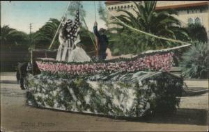 Pomona CA Cancel - Parade Float - Patriotic Theme c1910 Postcard
