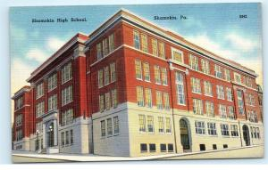 *Shamokin High School Building Pennsylvania PA Linen Vintage Postcard B89