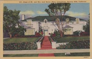 Home Of Mr and Mrs Jack Benny Mary Livingstone Beverly Hills California