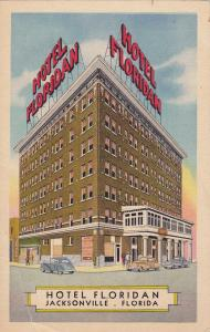 JACKSONVILLE, Florida; Hotel Floridan, Classic Cars, 30-40s