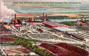 WORLD'S LARGEST INTEGRATED KRAFT CONTAINER PLANT, SAVANNAH, GA.