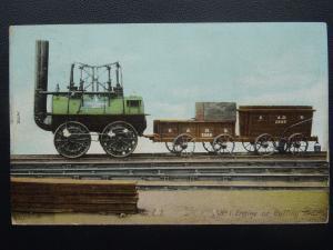 S.& D.R. Stockton & Darlington Railway No.1 ENGINE Buffing Billy c1908 Postcard