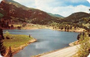 Lake Isabel Colorado Recreation Area Birdseye View Vintage Postcard K58078
