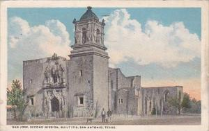 Texas San Antonio San Jose Second Mission Built 1718 1916