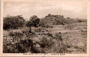Kopje Rhodes Grave Zimbabwe RPPC Postcard unused 1920s