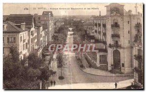 Old Postcard Vittel Avenue Ambroise Bouloumie and Hotels