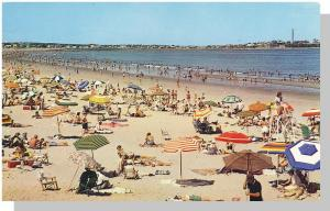 Hampton Beach, New Hampshire/NH Postcard, Beach Scene/1965