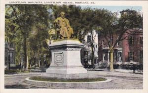MaIne Portland Longfellow Monument Longfellow Square